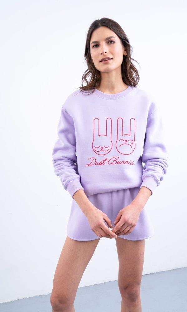 Levandų spalvos džemperis, džemperis su nuolaida, šviesus džemperis, pastelinis džemperis