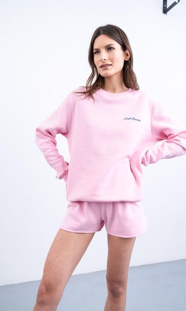 Rožinis džemperis, jaukus džemperis, pastelinis džemperis, džemperis su nuolaida