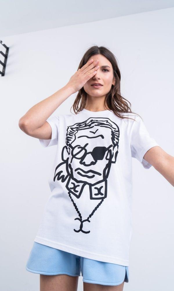 Balti marškinėliai, stilingi marškinėliai, egyboy marškinėliai, marškinėliai su nuolaida