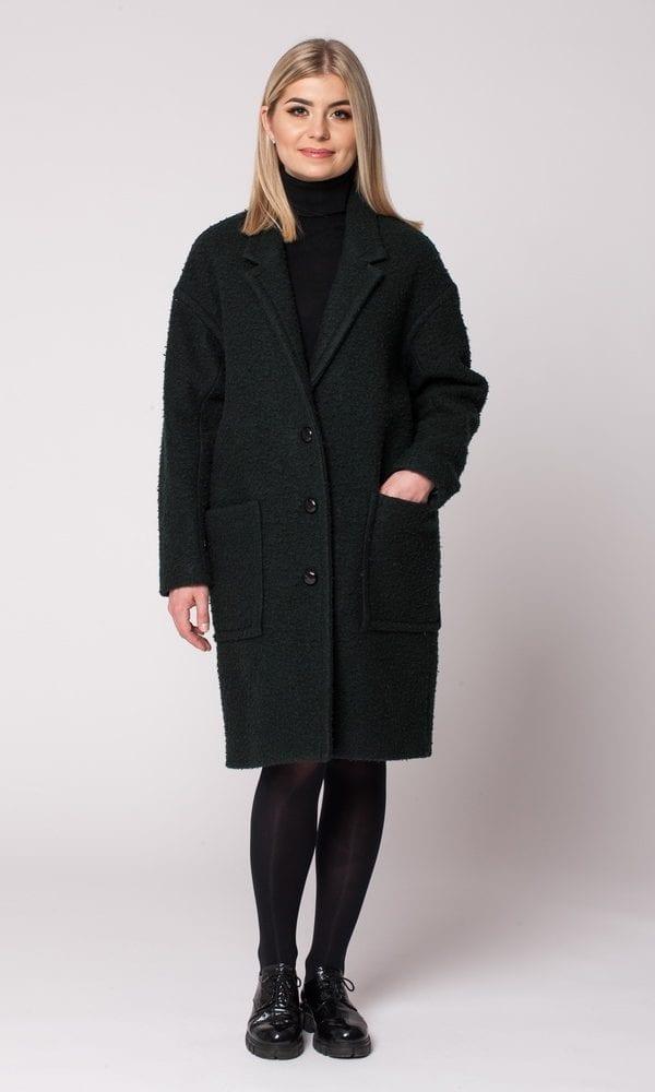 Žalias paltas, paltas su nuolaida, šiltas žalias paltas