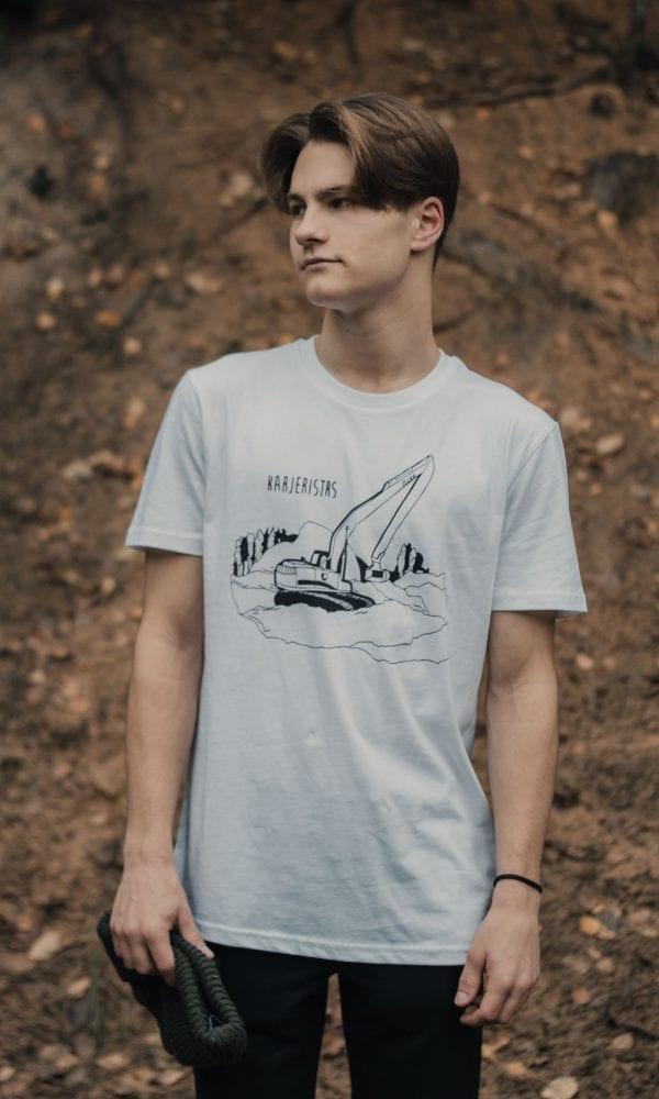 balti marškinėliai, madingi marškinėliai, jaunatviški marškinėliai